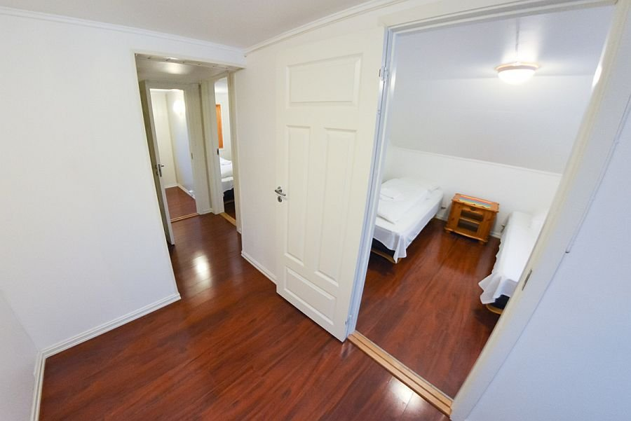 Blick in die Schlafzimmer von Kristinestua.