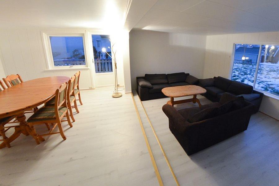 Der Wohnbereich von Ferienhaus Kristinestua.