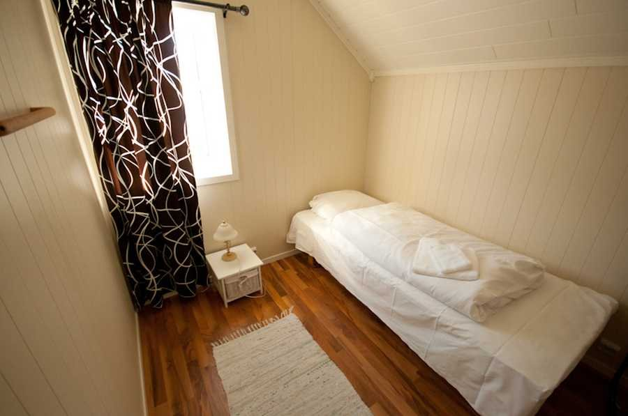 Eines der Schlafzimmer der Torleifstua.