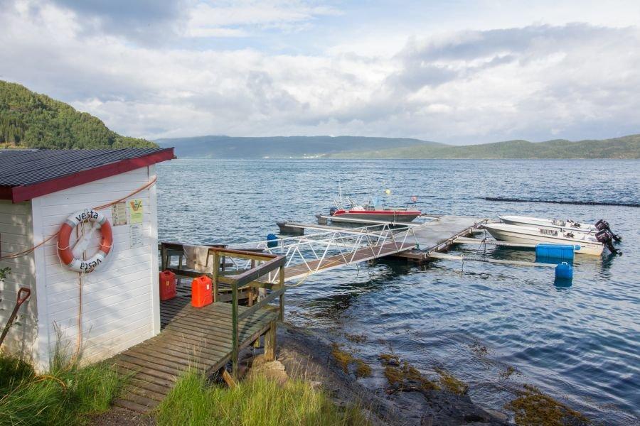 Die Flotte des Sandbakken Fishing Camps.