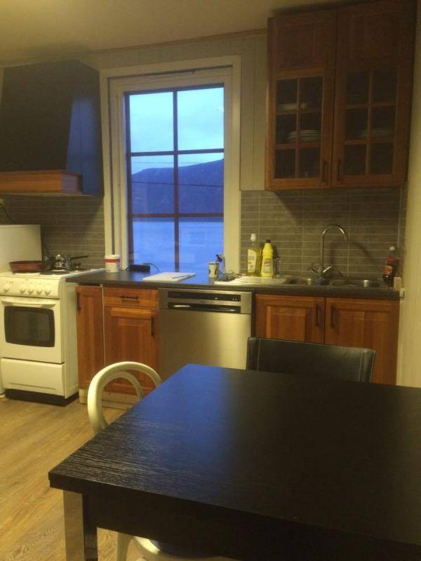 Die neue, voll ausgestattete Küche mit Backofen, 4-Plattenherd,Toaster, Kaffeemaschine, Mikrowelle und Geschirrspüler.