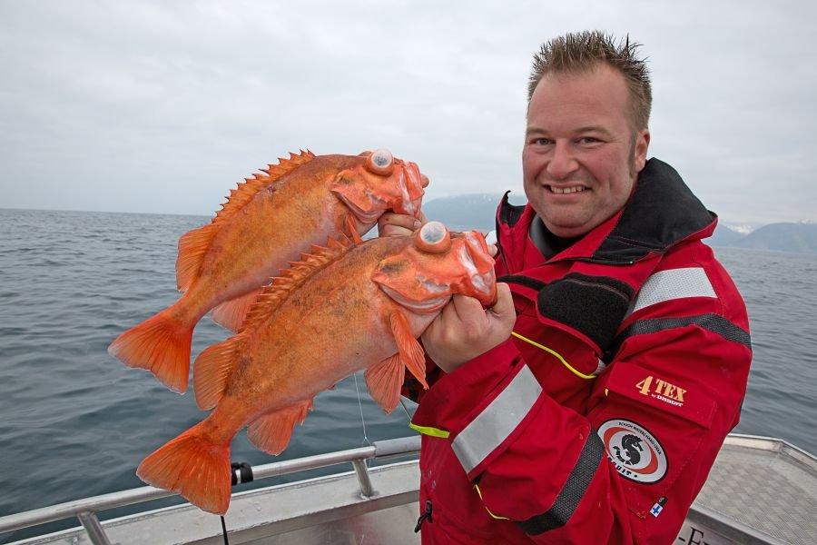 Rotbarsch-Revier - in Tiefen bis über 200 Meter werden die roten Riesen gefangen.