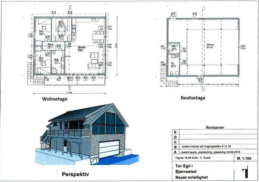 Bauskizzen der Innenaufteilung des Ferienhauses.