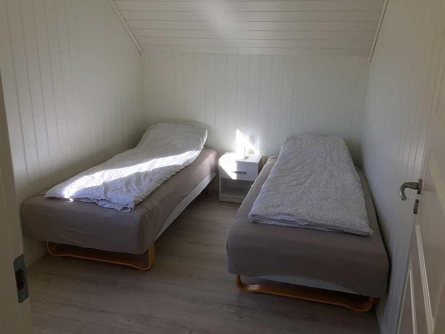 Das dritte Schlafzimmer mit zwei Einzelbetten
