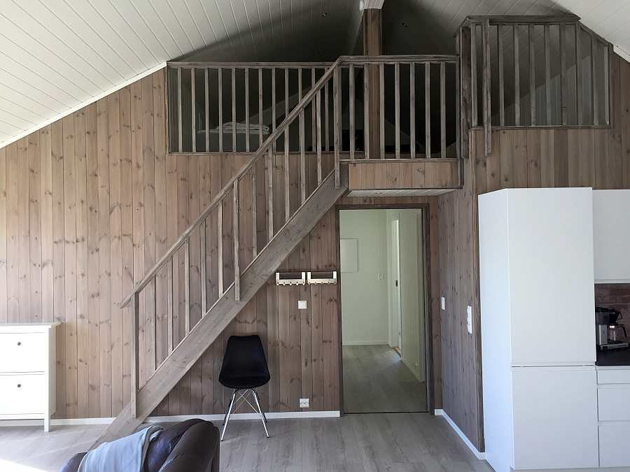 Zugang zum offenen Hems vom Wohnraum aus