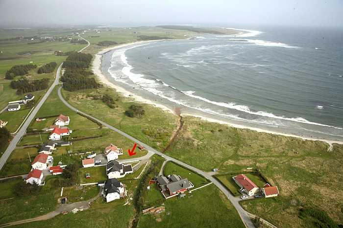 Unser Strandhaus Borhaug - nur ein paar Schritte vom Strand entfernt