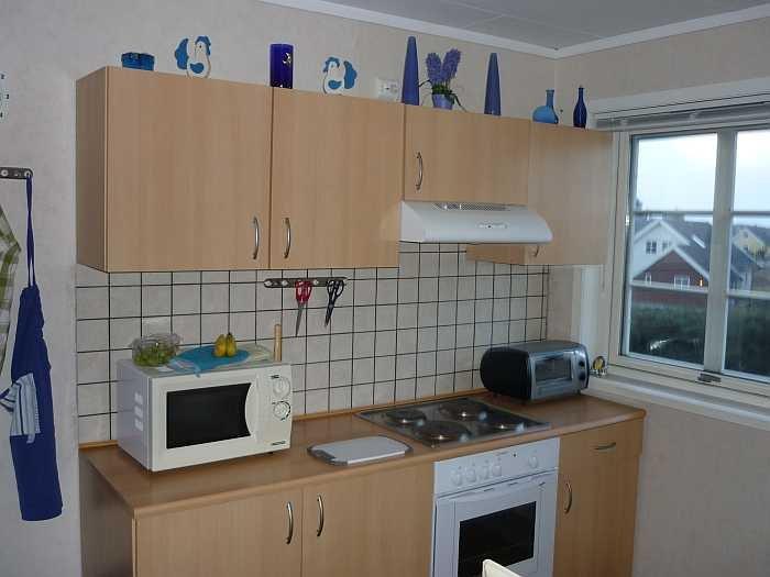 Die Küche der Ferienwohnung ist komplett ausgestattet