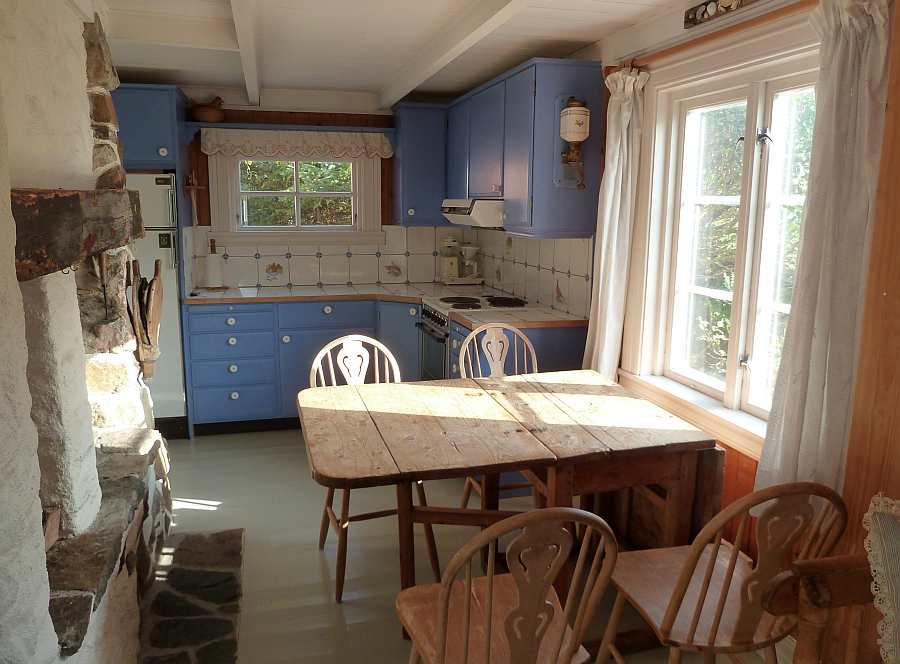Die gemütliche Wohnküche des Ferienhauses