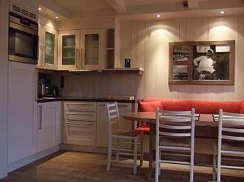 Moderne Küche im Ferienhaus des Farsund Resort