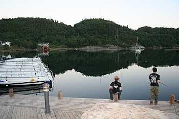Am Steg lässt es sich schon gut auf z.B. Plattfische angeln...