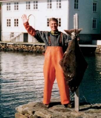 Ihr Gastgeber Alf-Arian mit seinem Lieblingsfisch...
