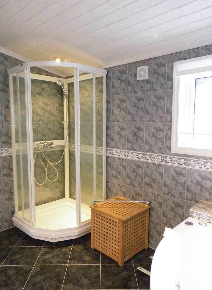 Die Dusche im Bad