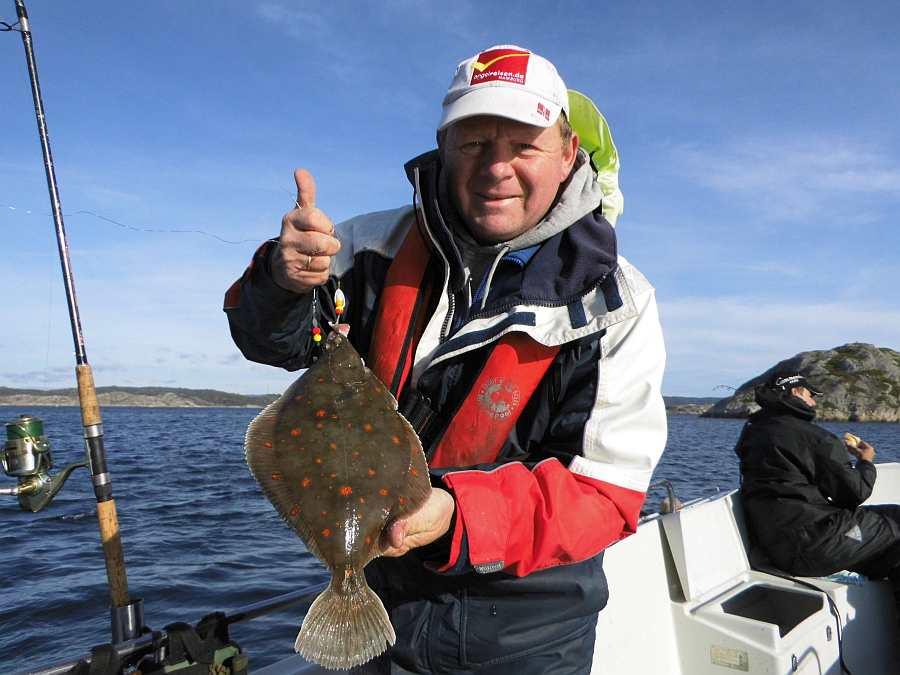 Das ist Südnorwegen. Plattfische gibt es hier viele
