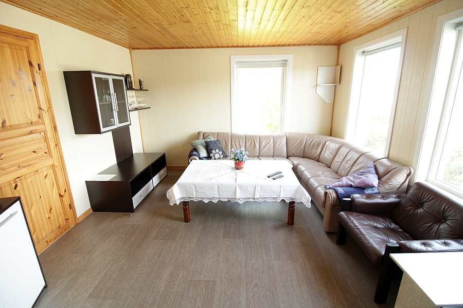 Das Wohnzimmer von der  Wohnung im Erdgeschoß