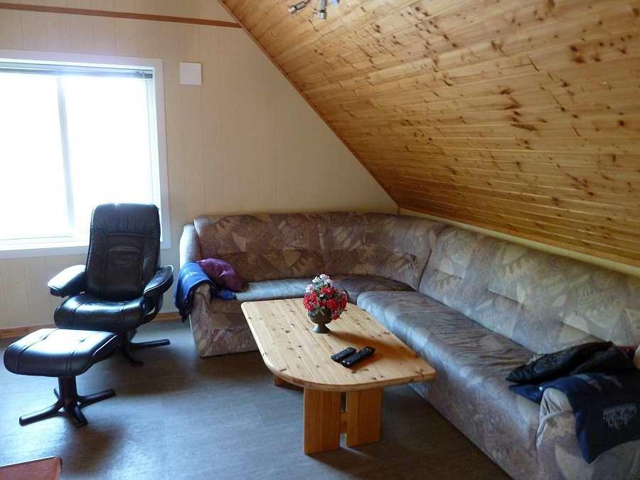 Sitzecke im Wohnzimmer der  Wohnung im Obergeschoß