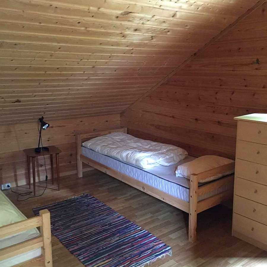 Das Schlafzimmer mit 2 Einzelbetten...