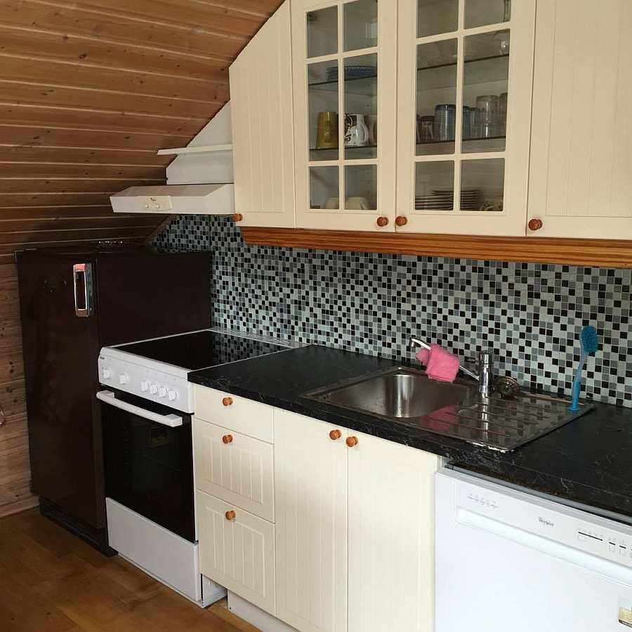 Die Küche des Ferienhauses ist komplett ausgestattet