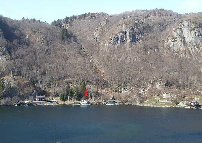 Die Lage des Hauses im Sellegrodfjord