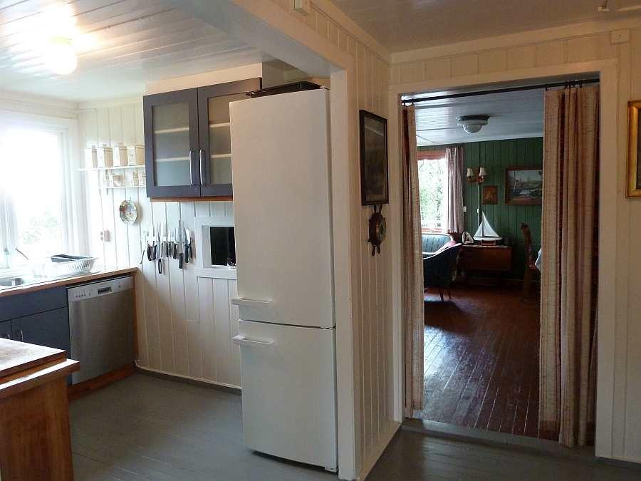 Übergang von der Küche zum Wohnbereich