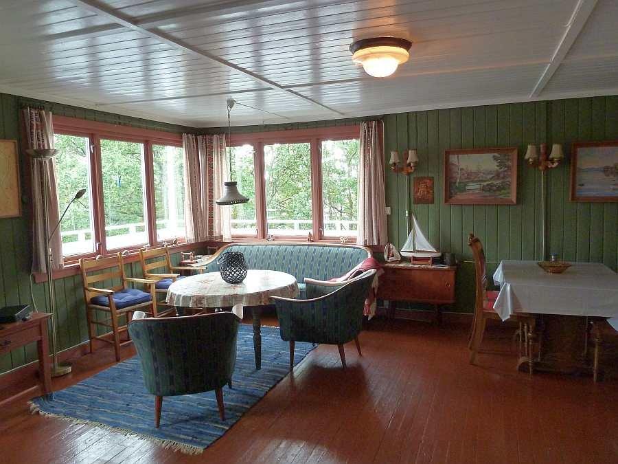 Der Wohnbereich des Ferienhauses