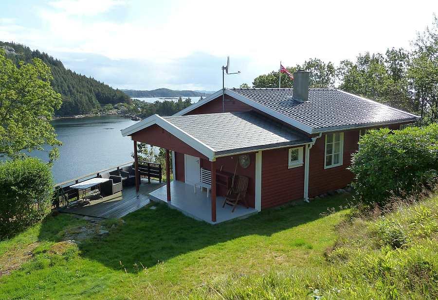 Ferienhaus Skougaard - die perfekte Lage am Fjordufer