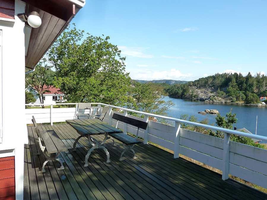 Die große Veranda zum Fjord