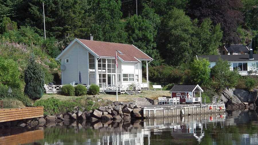 Ferienhaus Spind - direkte Wasserlage am Spindsfjord im Schärengürtel vor Farsund