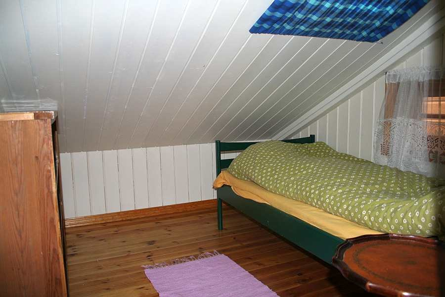 Haushälfte Westersiden No.9: Eines der beiden Schlafzimmer mit je 1 Einzelbett