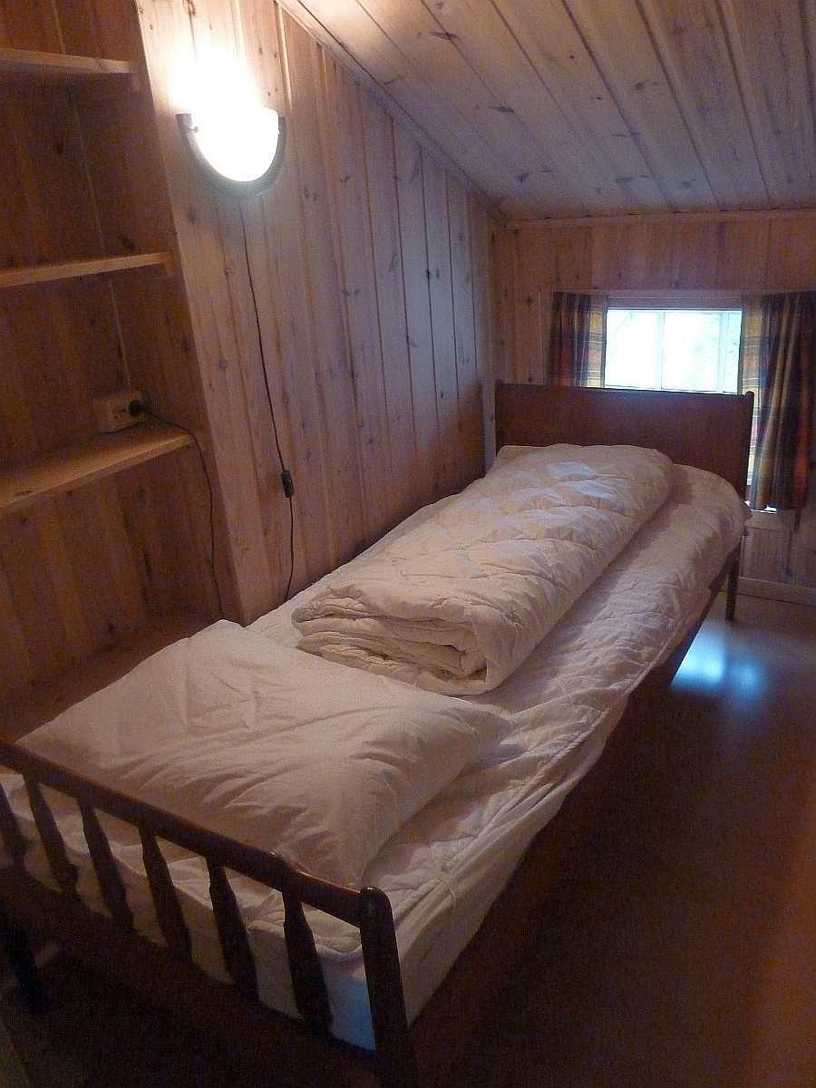 Haushälfte Westersiden No.8: Eines der beiden Schlafzimmer mit je 1 Einzelbett