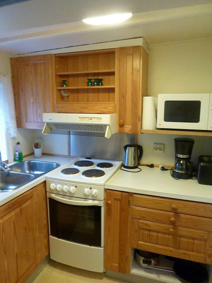Die kleine Küche der Haushälfte Westersiden No.9
