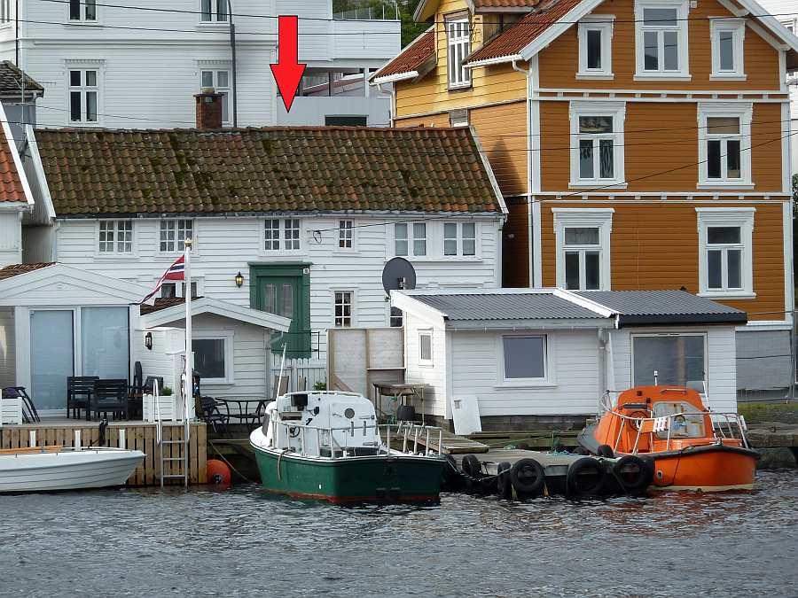 Ferienhaus >Westersiden< - Lage direkt am Fjord im alten Ortskern des  Hafenstädtchens Farsund