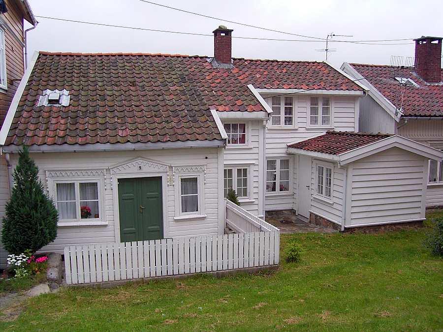 Ferienhaus Westersiden in Farsund: hier Eingang Haushälfte  No.9