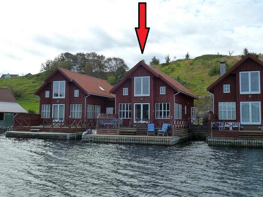 Seehaus >Remme<  auf der anglerisch bekannten Insel Eigerøya bei Egersund. Die Insel kann bequem mit dem Auto über eine Brück vom Festland aus erreicht werden