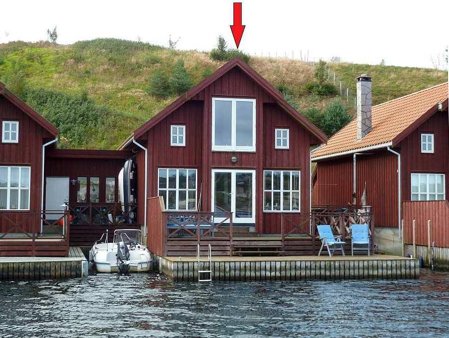 Seehaus Remme - die perfekte Lage direkt am Fjordufer