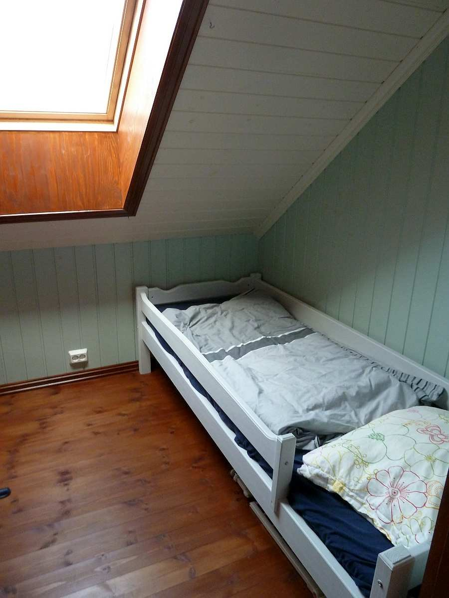 Das Schlafzimmer mit 1 Einzelbett