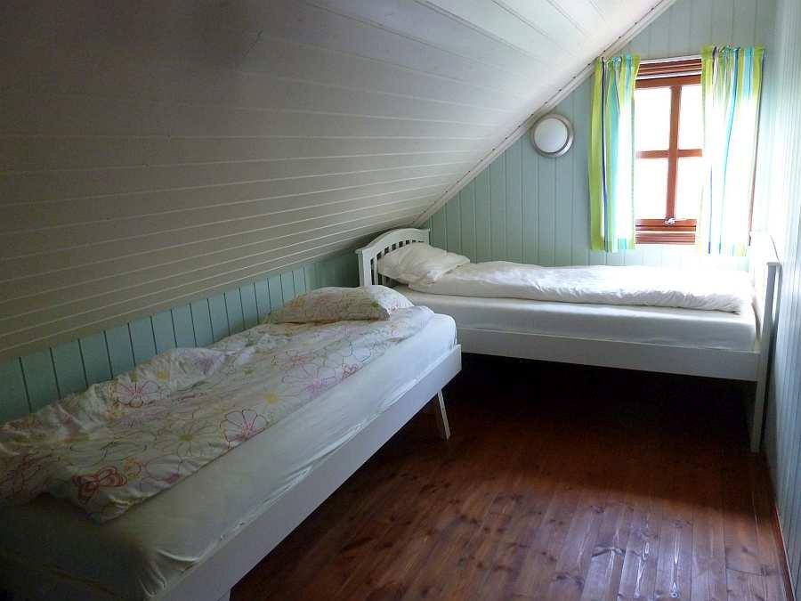 Das Schlafzimmer mit 3 Einzelbetten