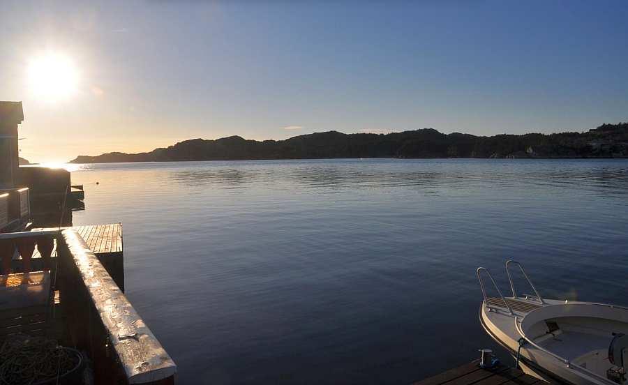 Abendliche Stimmung auf dem Fjord