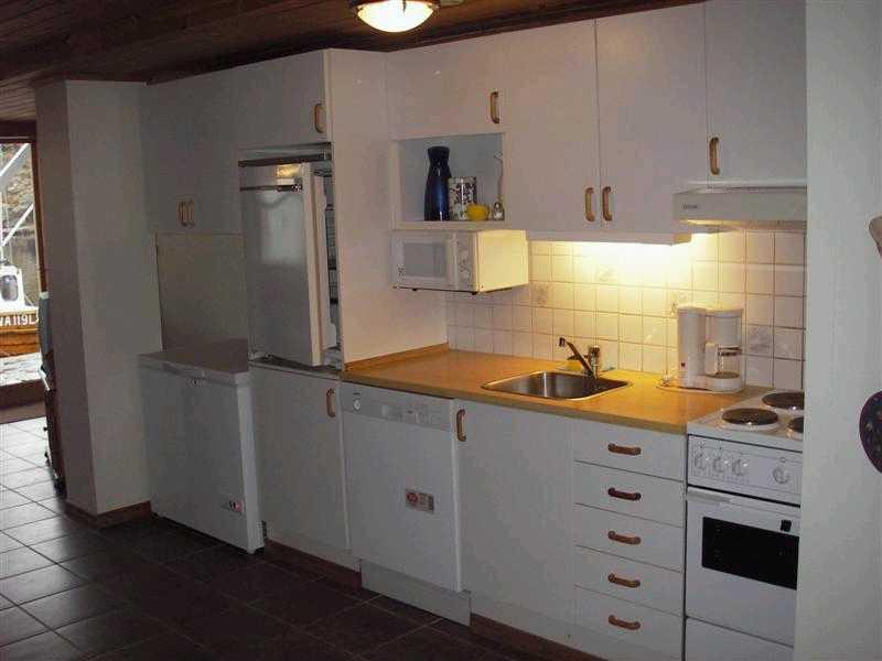 Eine der Küchen der Typ B Unterkünfte.