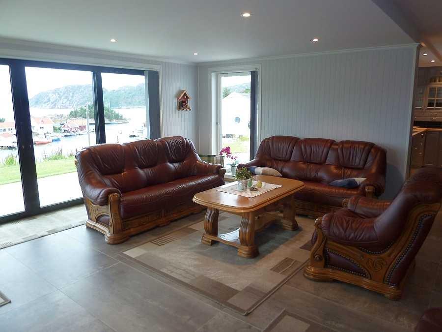 Die Sitzecke im Wohnbereich der Wohnung Beate-2-Ergeschoß