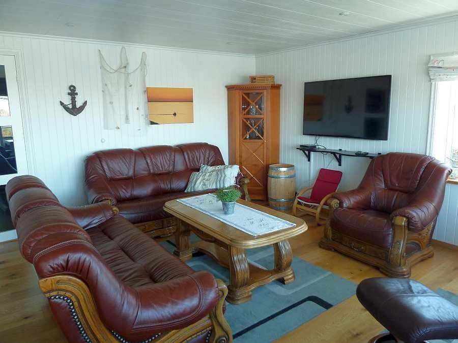 Der Sitzbereich in der Wohnung Beate-1-Obergeschoß
