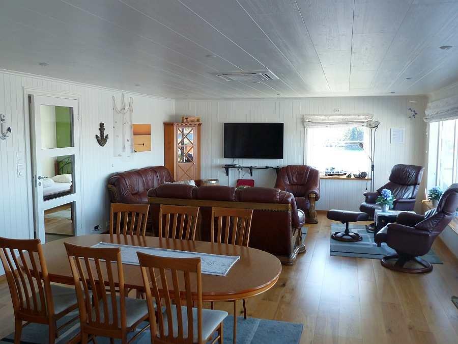 Blick in den Wohnbereich der Wohnung Beate-1-Obergeschoß