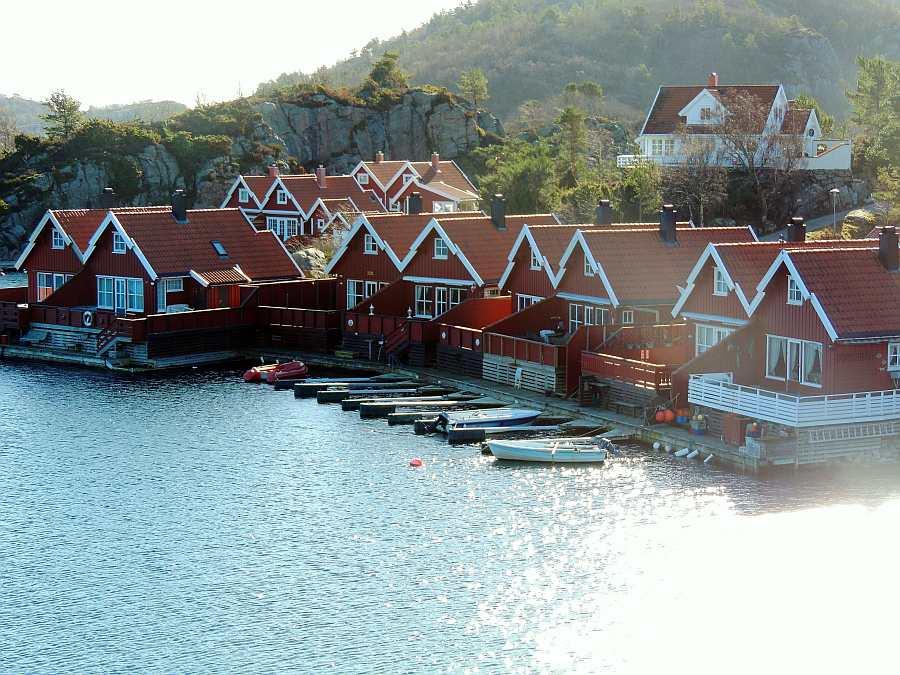 Das Seehaus Børufsodden bei Spangereid am schönen Kap Lindesnes.
