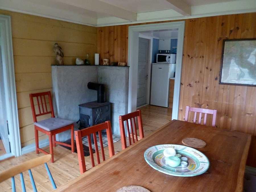 Das zusätzliche Esszimmer des Ferienhauses