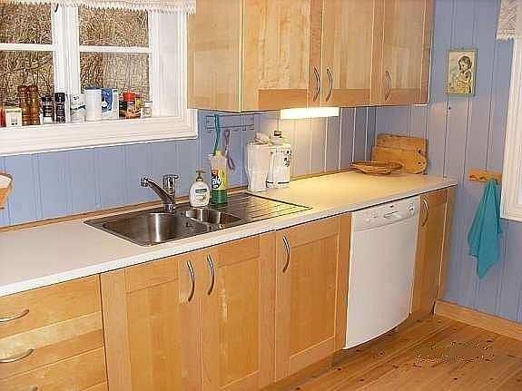 Die Küche ist komplett ausgestattet...