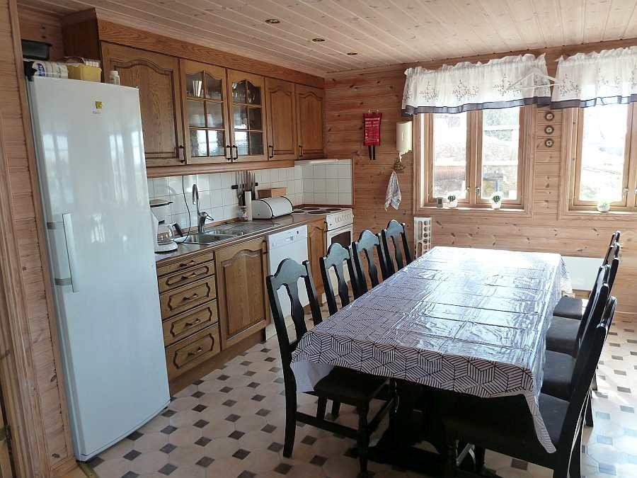 Die offene Wohnküche des Ferienhauses