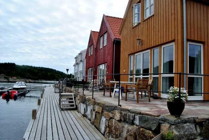 Alle Ferienhäuser haben eine eigene Terrasse
