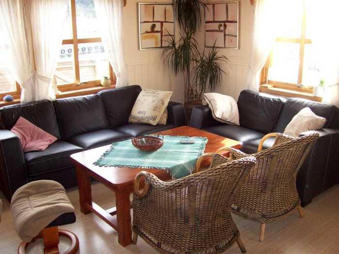 Die gemütliche Sitzecke des Ferienhauses