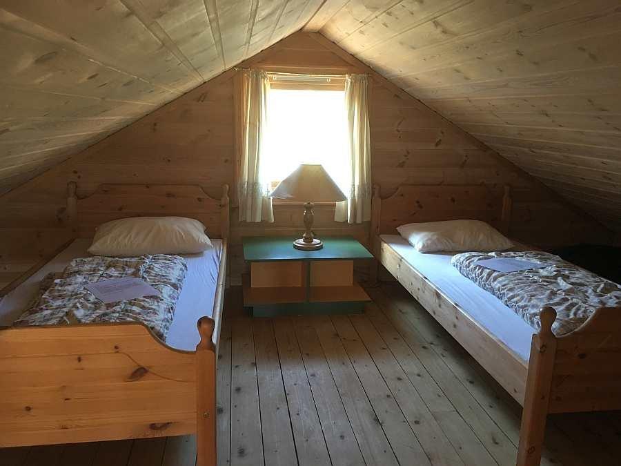 Das Schlafzimmer im Hems mit 2 Einzelbetten