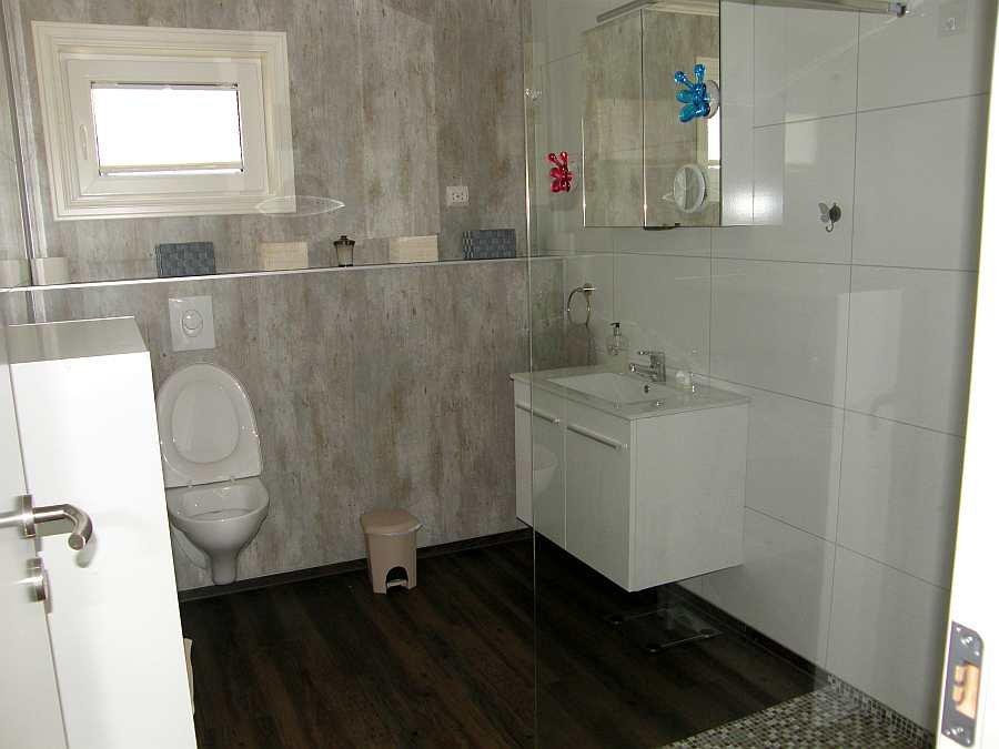 Das erste Bad des Hauses - hier mit Dusche und WC