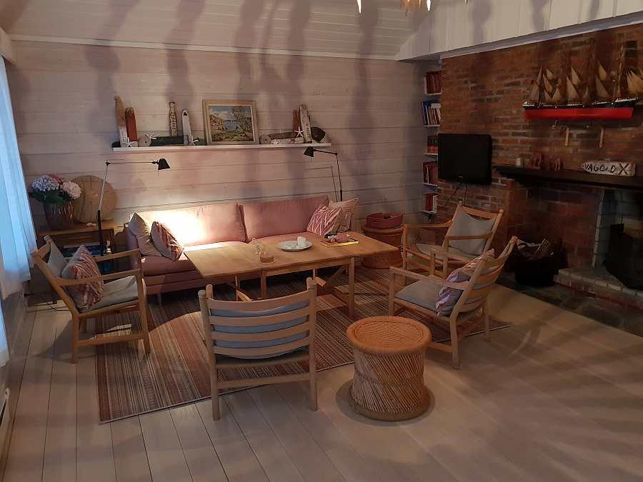 Das gemütliche Wohnzimmer  des Ferienhauses